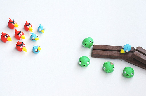 Angry Bird Fondant Cake Toppers