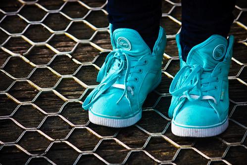 the little green ... ummm aqua ... shoes by Matt Hovey (on hiatus. back soon!)
