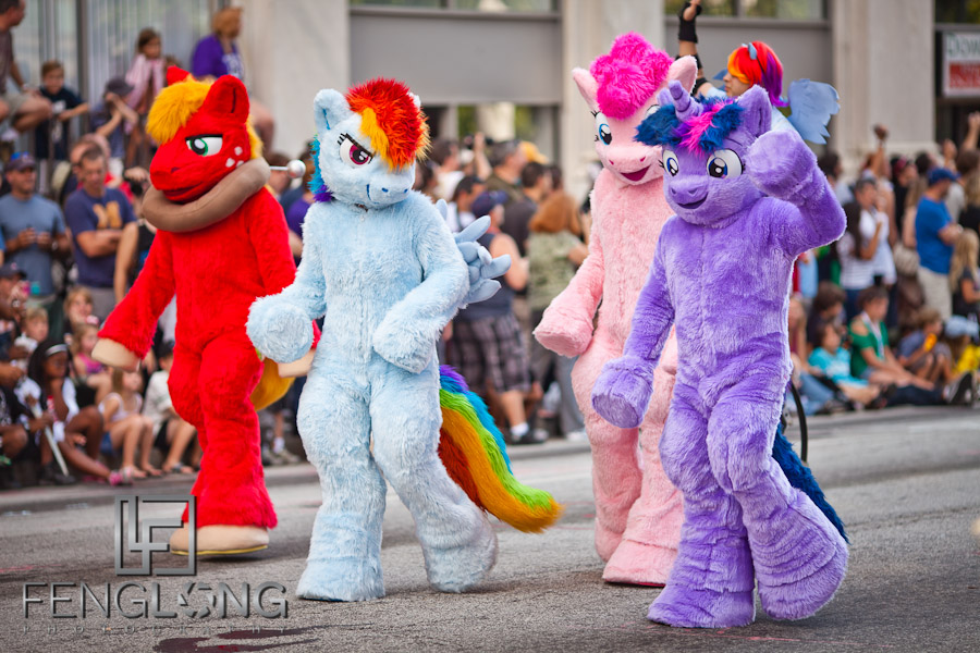 My Little Pony Cosplay at the 25th Anniversary Dragon Con Parade 2011 on Peachtree Street in Downtown Atlanta
