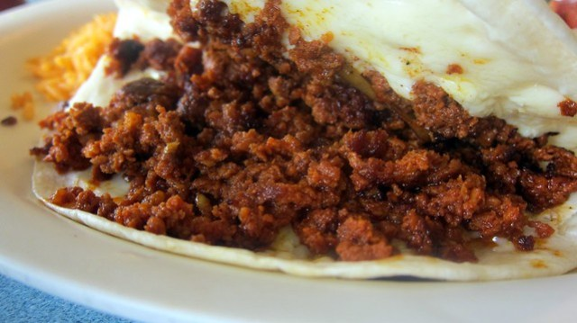 chorizo from the quesadilla at la botana