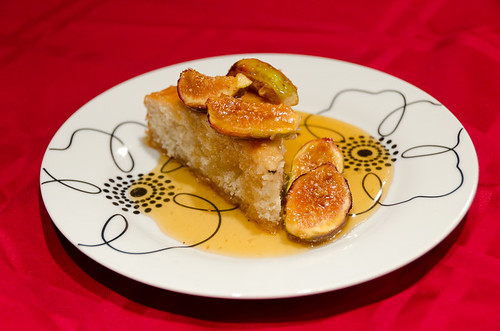 Fig-Honey Glazed Summer Cake Slice