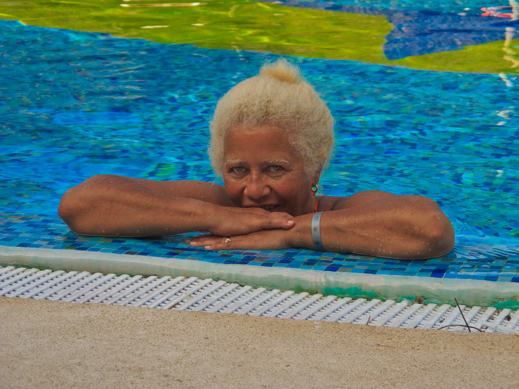 Chris at the pool