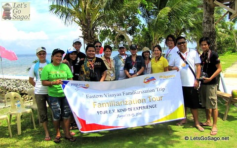 Eastern Visayas Familiarization Tour (EV FamTour) with some PHILTOA members and media from print and online.