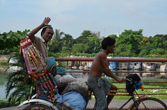 Dhaka travelling by rickshaw