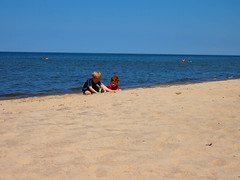 Alex and Patrick at Lake Michigan