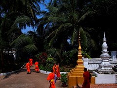 Monks changing classes, Luang Prabang