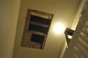 Underneath new skylight