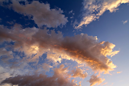 Tucson sunset clouds by SearchNetMedia