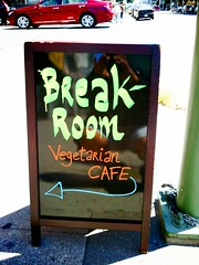 The Breakroom sign