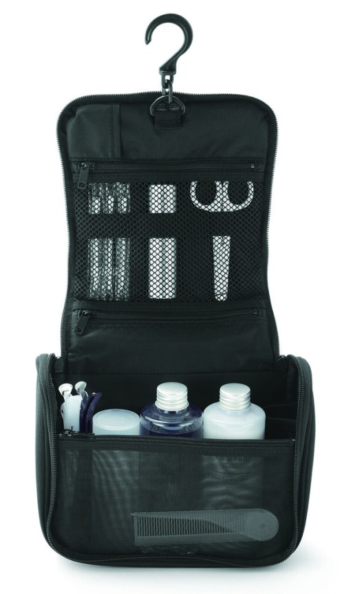 Hanging toiletry case