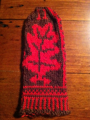 not quite finished oak mitten