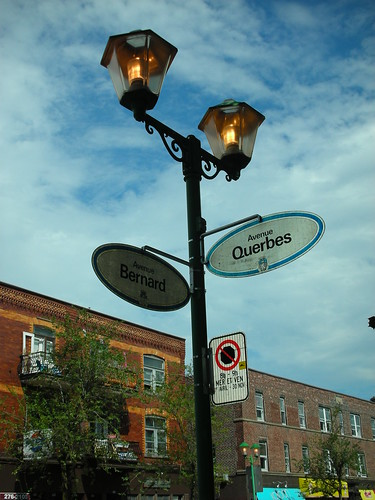 A Street Sign in Montreal