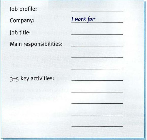 describing own jobs in English from Logistics business
