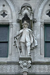 Statue of John Winthrop on the Connecticut Sta...