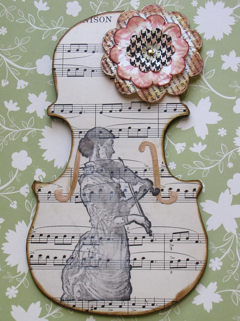 Violin Lady card