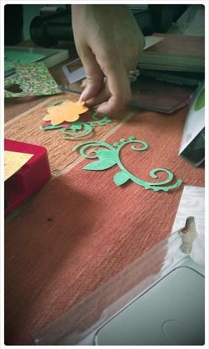 Mum creating a design