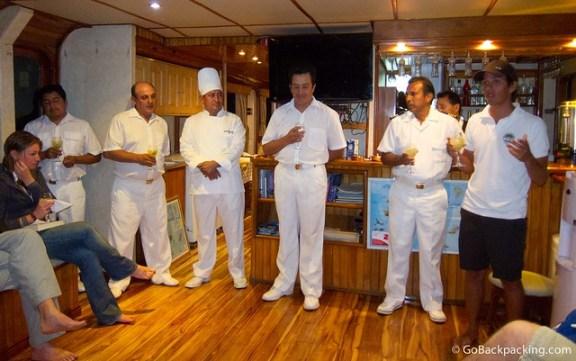 Meeting the crew of Estrella del Mar