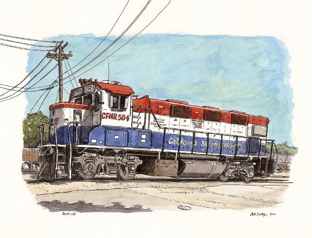 train engine in davis
