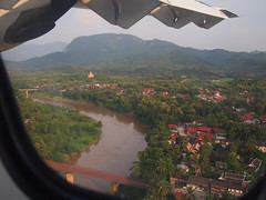 Lao Airlines over Luang Prabang