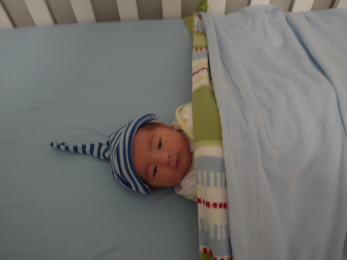 2 of 12: Eskil Back in His Cot After 3 am Feed