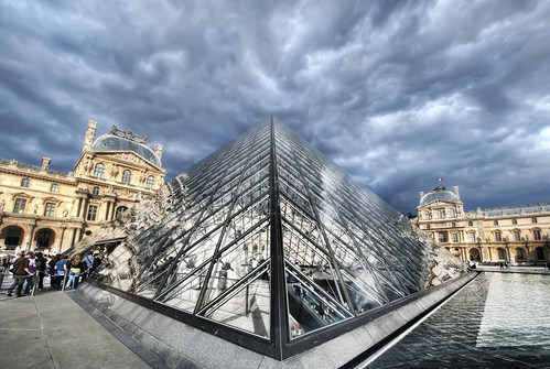 The Louvre in Heavy Clouds by Stuck in Customs