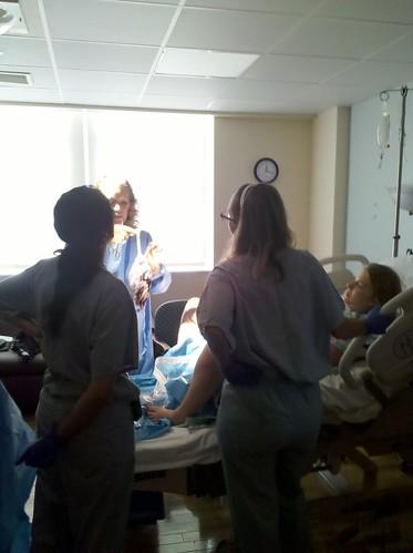 Labor - Team Looks at Placenta