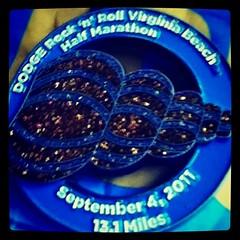 My Half Marathon Race Medal. #momsrunning #RnRVB