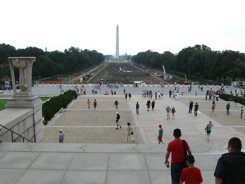 Washington monument from the Lincoln