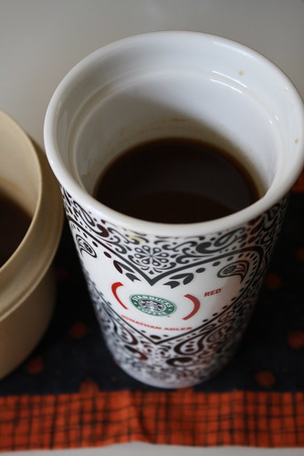 coffee with pumpkin syrup