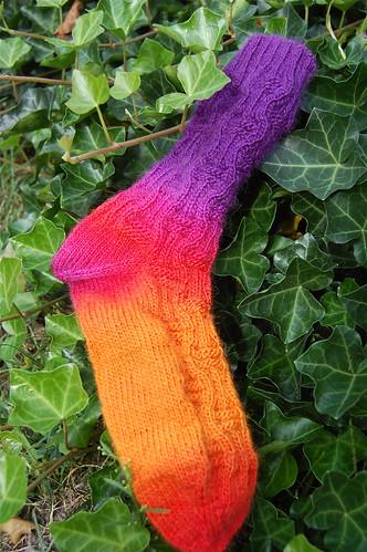 Rainbow Chip Sock