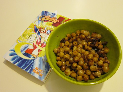 Honey Garlic Roasted Chick Peas