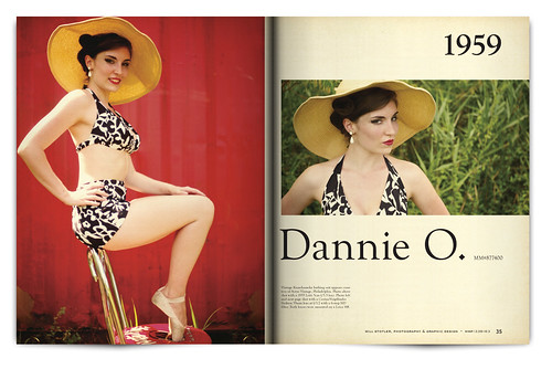 Vintage Magazine Spread Design Project - Pgs. 34 & 35