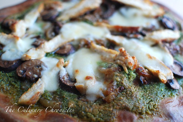 Macadamia Nut Pesto Pizza