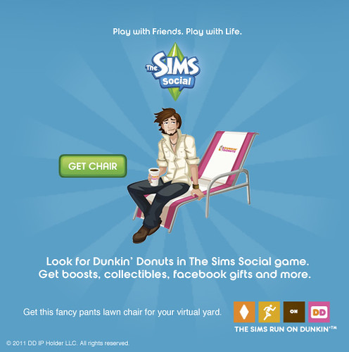 Dunkin' Donuts and The Sims Social