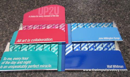 Mentos UP2U Gum (Sweet Mint/Bubble Fresh and Daylight Mint/Mintnight Mint) Inside Packs