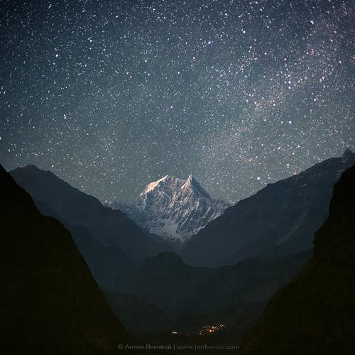 NILGIRI SOUTH (6839 m) by Anton Jankovoy and Mariya Sogrina