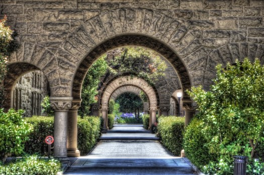 The Arches in the Stanford Quad by Scott Loftesness