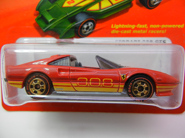 hot wheels hot ones ferrari 308 gts chase redline