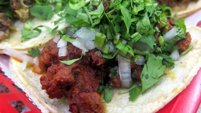 taco de al pastor at supermercado chicago