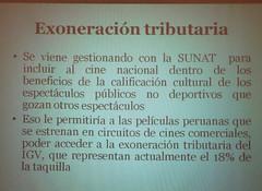 CONACINE - Exoneracion tributaria