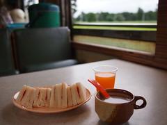 Breakfast, Train 69 from Bangkok to Nong Khai