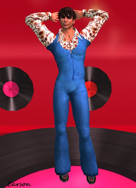 ORQUIDEA- Disco Jumpsuit , E-Clipse DiscoHunt Slippers, Grumble - Disco Necklace