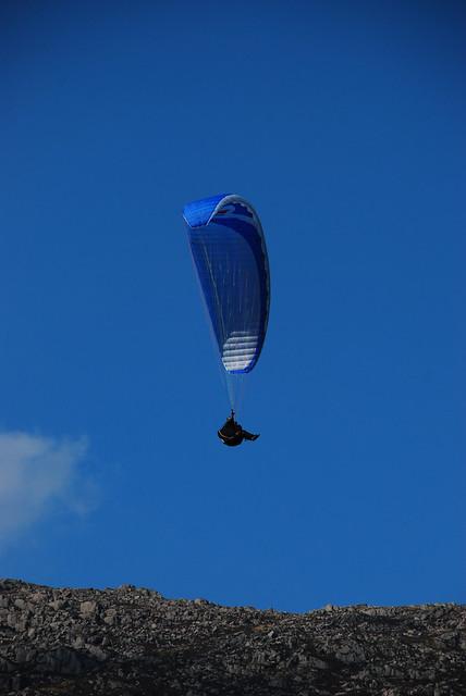 Para Glider in snowdonia over Glyder Fach