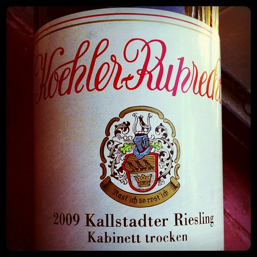 Koehler-Ruprecht Kallstadter Saumagen Kabinett Trocken Riesling 2009