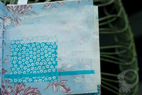 Empty page blue floral