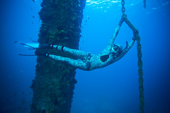 Mishka Free Diving at Gravel Loader