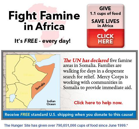 Fight famine in Africa for free