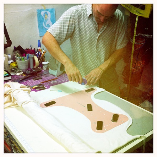 cutting organic cotton organic bamboo velour for diapers by rebourne.etsy.com