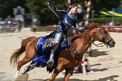 Knight Riding into Joust Renaissance Faire 2011