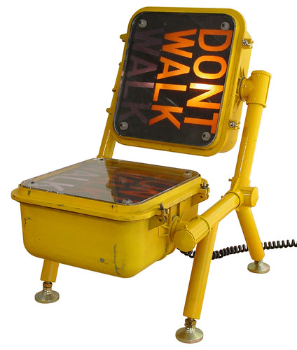 walk dont walk chair